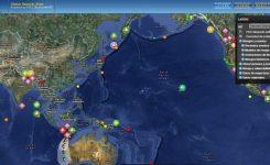Portal Web que ofrece un mapa interactivo de la evolución de los desastres naturales mundiales en tiempo real