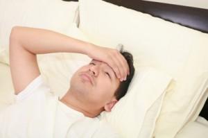 Enfermo de la gripe A toma reposo