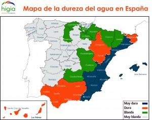 Mapa de la calidad del agua en España