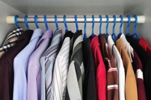 Polillas de la ropa en los armarios