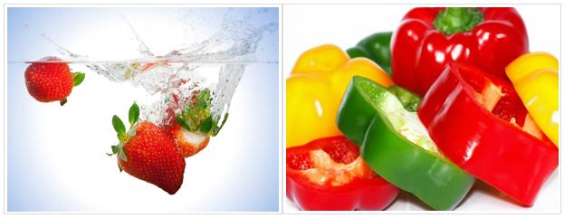 Importancia de la desinfección de alimentos en frutas y verduras