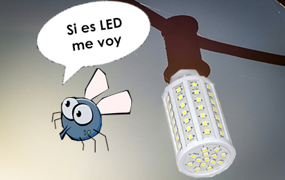 Las bombillas LED son antimosquitos