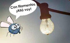 La luz LED repele los mosquitos