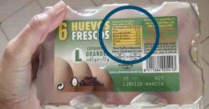 etiquetado seguridad alimentaria huevos